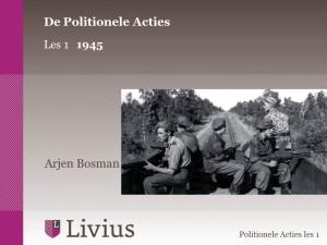 Livius cursus Politionele Acties les 1