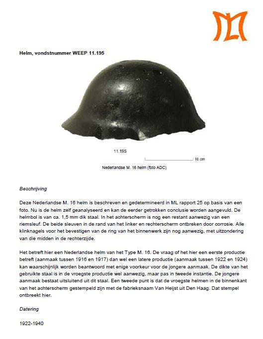 rapport helm uit vecht